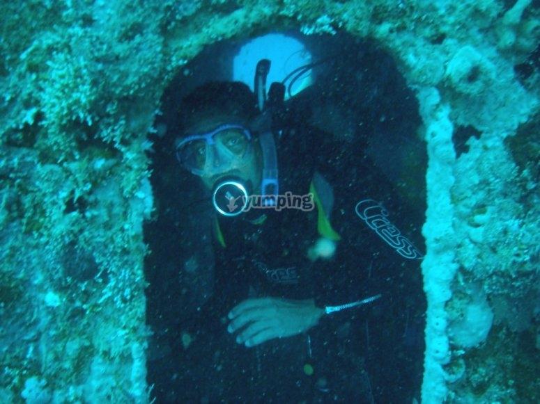 Diving in Veracruz, Enjoying Riva Palacio.