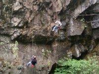 Rappel + zip wire in Mineral del Chico