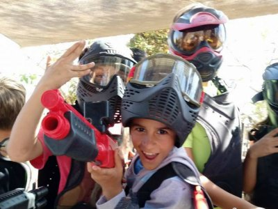 Paintball match for kids, in Cabo S. Lucas