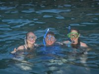 snorkeling with friends