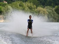 Practice water skiing