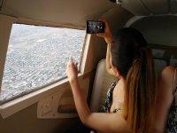 Flying inside the plane