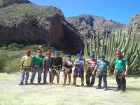 Rappelling team