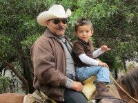 Horseback riding with children