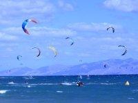 papalotes en el mar