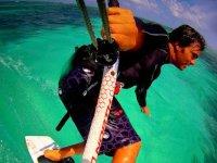 Aventura de kitesurfing
