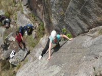 Rappel in the best places in Huasca