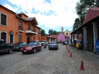 Walk through the cobbled streets of Huasca