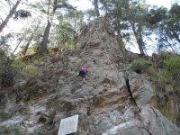 Climbing in rocca