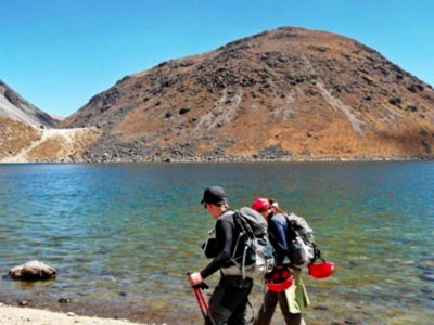 4 hours walking in the lakes, Nevado de Toluca