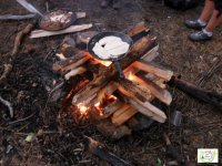 Campfire and food