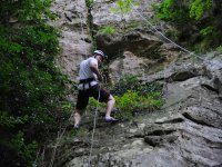 Glide and enjoy the rappel
