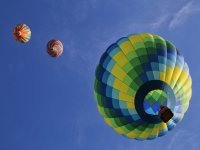 Get on the hot air balloon and see Huasca