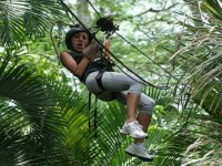 Zip line in the jungle