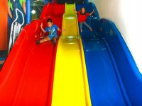 By the slides