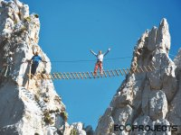 Suspension bridge via ferrata