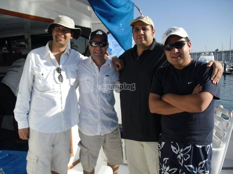 Pesca con amigos