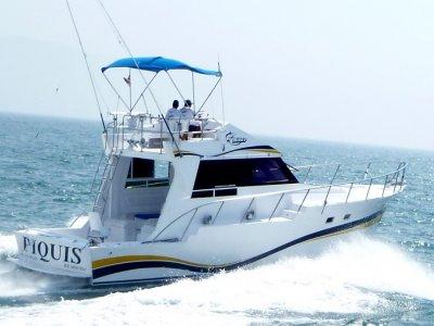 Pesca o paseo en barco de lujo Puerto Vallarta 6 h