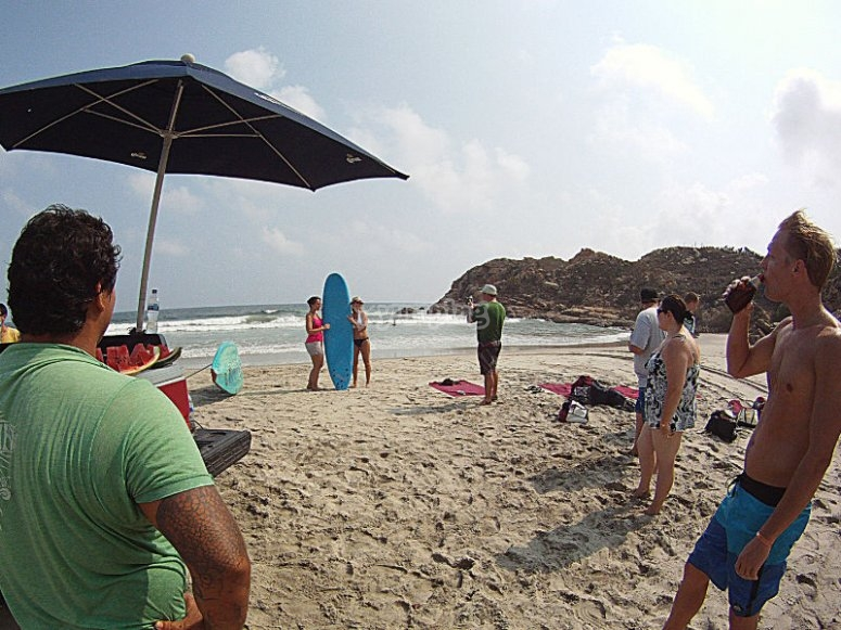 Surfing in Huatulco