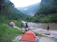 Camping in natural settings