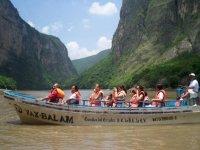 Enjoying a canoe ride