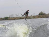Taking wakeboard flight