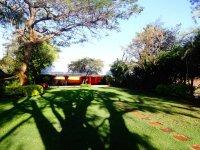 Orange house garden