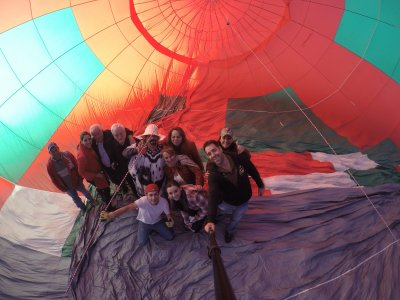 Private balloon flight over Lagos de Moreno