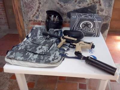 Extreme sport: Paintball match in Lerma