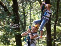Rappel in camp