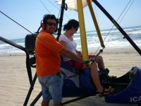 On the coast aboard the paramotor