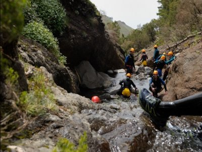 Canyoning trip in Copalitilla Waterfalls