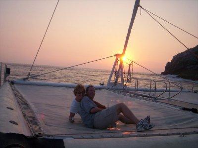 Paseo en catamarán al atardecer en Ixtapa