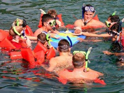 Paseo en catamarán al atardecer Zihuatanejo niños