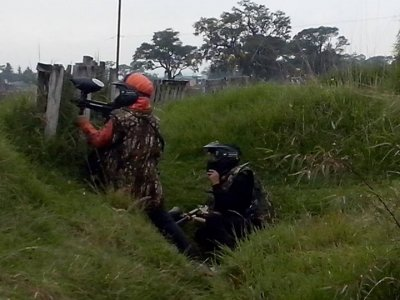Paintball match in Toluca