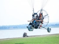 Enjoying a paramotor flight