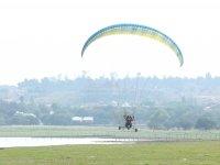 Flying in paramotor in Guanajuato