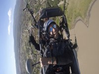 Enjoying freedom in paramotor