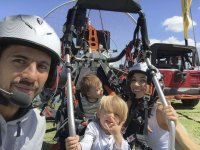 Flying in family in paramotor