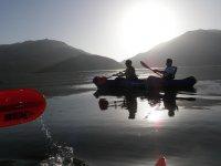 Kayak at sunset