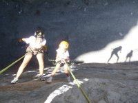Family rappelling