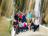 Stop at the waterfall to take the photo