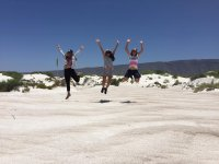 Fun photo in the Dunes of Plaster