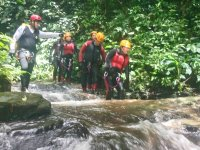 canyoning by the river