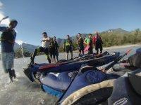 Kayaks and group