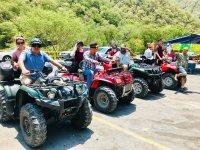 Quad bike trip through Sierra de Santiago