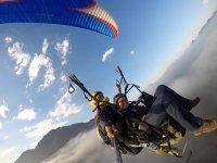 Paragliding flight in the region of Nuevo León
