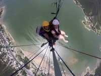 Flight in two-seater paragliding
