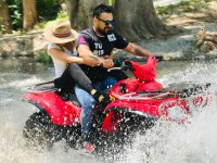River tour in ATV Sierra de Santiago