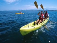 Kayaking tour in the Pacific Ocean
